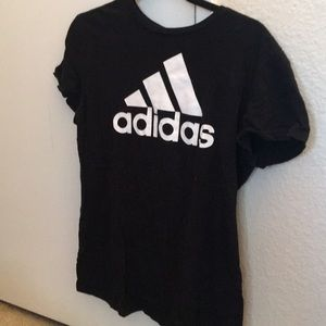 Adidas black workout tee